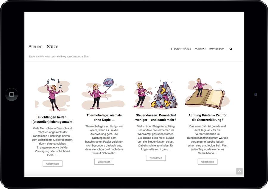 Web-Design Nina Simone Plum
